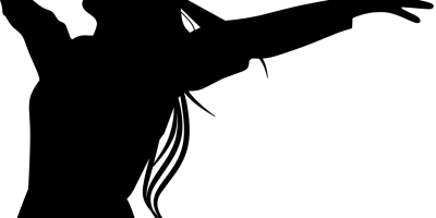 woman's silhouette arms outstretched