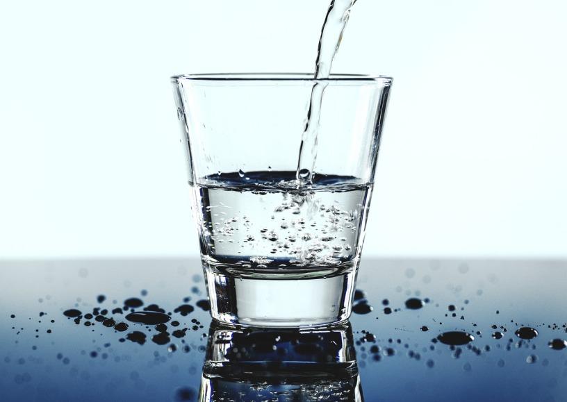 glass half full of water