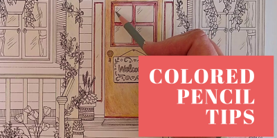 Colored pencil tips for Coloring Books for Youtube channel Coloring Book Tips and Chat.